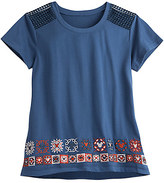 Disney Mickey Mouse Embroidered Fashion Tee for Women Boutique
