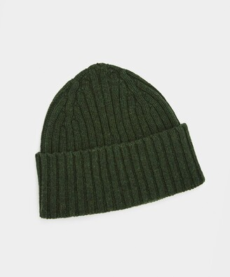 Drakes Classic Lambswool Hat in Green