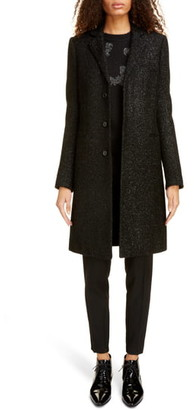 Saint Laurent Shimmer Wool Blend Chesterfield Coat