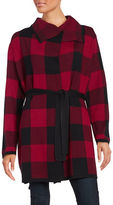 Context Long Sleeve Plaid Wrap Jacket