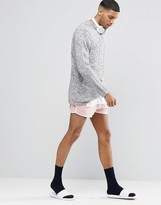 Asos Jersey Runner Shorts In Super Short Length