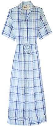 MII Les Madras Shirt Dress in Blue