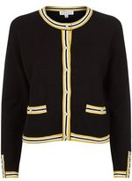 Claudie Pierlot Maxypunk Striped Trim Cardigan