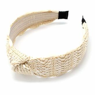 COSYOO Women Straw Headband Retro Natural Wide Hair Band Plaited Headband Knot Hair Hoop Raffia Hair Band