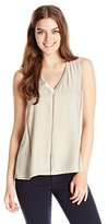 Nanette Lepore Women's Sleeveless Silk-and-Knit Top