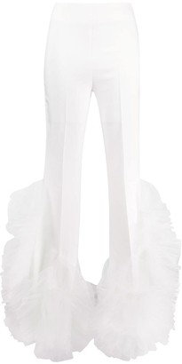 Loulou Ruffled Detail Trousers