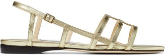 Jimmy Choo Arien metallic strappy sandals