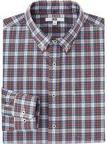 Uniqlo Men's Extra Fine Cotton Broadcloth Checked Dress Shirt