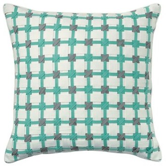 Company C CompanyC Starboard Cotton Geometric Throw Pillow CompanyC Color: Aqua