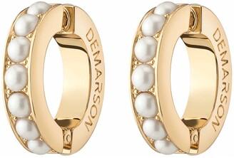 DEMARSON Set of 2 Cultured Pearl Ear Cuffs