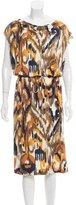 Tory Burch Abstract Print Silk Dress