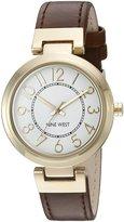 Nine West Women's Quartz Brown Casual Watch (Model: NW/1908WTBN)