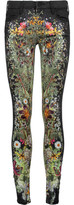Mother The Looker Mid-Rise Floral-Print Skinny Jeans
