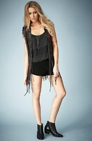 Topshop Kate Moss for Woven Leather Vest (Nordstrom Exclusive)