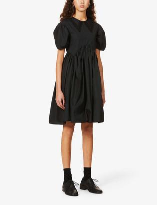 Cecilie Bahnsen Malou puff-sleeve organic-cotton mini dress