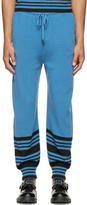 J.W.Anderson Blue Merino Wool Striped Show Tracksuit Pants
