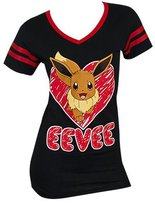 Pokemon Eevee V Neck Juniors Tee (Extra Large, )