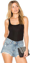 Monrow 2x1 Narrow Rib Tank in Black. - size L (also in XS)