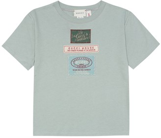 Gucci Kids Label cotton T-shirt