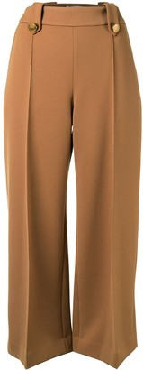 Mulberry Patricia cropped wide-leg trousers