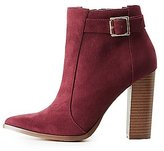 Charlotte Russe Pointed Toe Ankle Booties