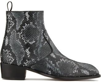 Giuseppe Zanotti Snakeskin-Effect Ankle Boots