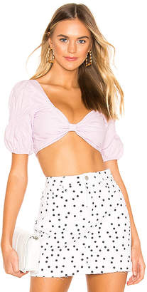 superdown Shay Puff Sleeve Crop Top