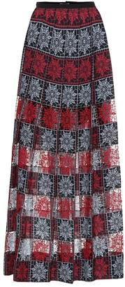 Elie Saab Embroidered tulle maxi skirt