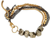 Liz Larios Pyrite Fringe Bracelet
