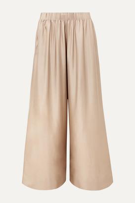 Deitas Silk-twill Wide-leg Pants - Beige