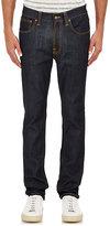 Nudie Jeans Men's Lean Dean Jeans-BLUE, WHITE