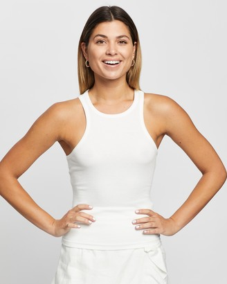 Atmos & Here Atmos&Here - Women's White Singlets - Abigail Singlet - Size 6 at The Iconic