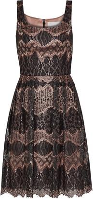 Carolina Herrera Metallic Corded Lace Dress