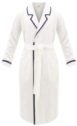 P. Le Moult - Belted Cotton-herringbone Robe - Mens - White