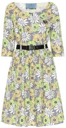 Prada Floral-printed cotton dress