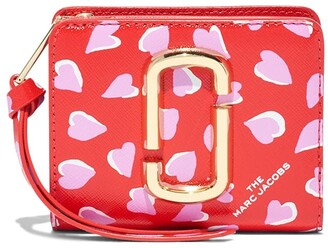 Marc Jacobs The Snapshot heart-print wallet