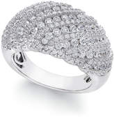 Arabella Swarovski Zirconia Dome Cluster Statement Ring in Sterling Silver