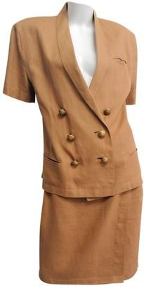 Genny Brown Linen Jacket for Women Vintage