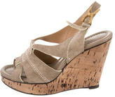 Chloé Suede Buckled Wedges