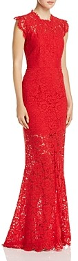 Rachel Zoe Estelle Open Back Lace Gown