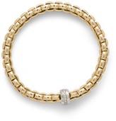 Fope Eka 18ct gold diamond-set flexible bracelet