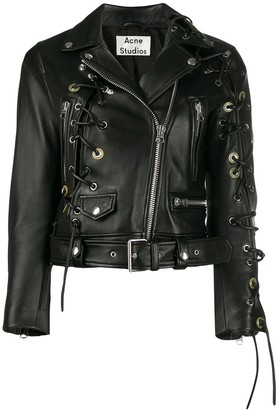 Acne Studios petite carry-over biker jacket