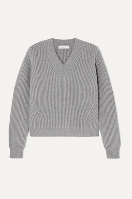 &Daughter Inver Ribbed Wool And Cashmere-blend Sweater - Gray