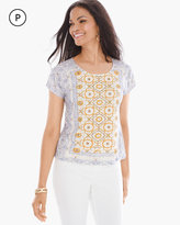 Chico's Tiled Embellished Tee