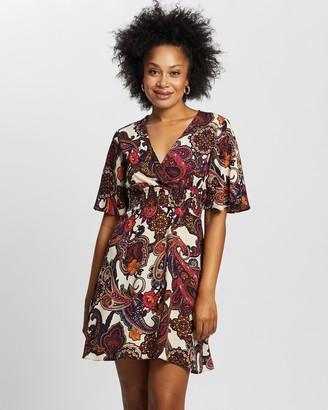 Dorothy Perkins Paisley Print Shirred Skater Dress