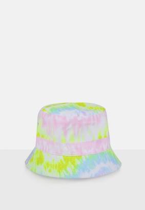 Missguided Yellow Tie Dye Bucket Hat