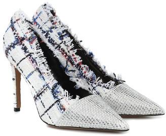 Alexandre Vauthier Michelle Fringe embellished tweed pumps