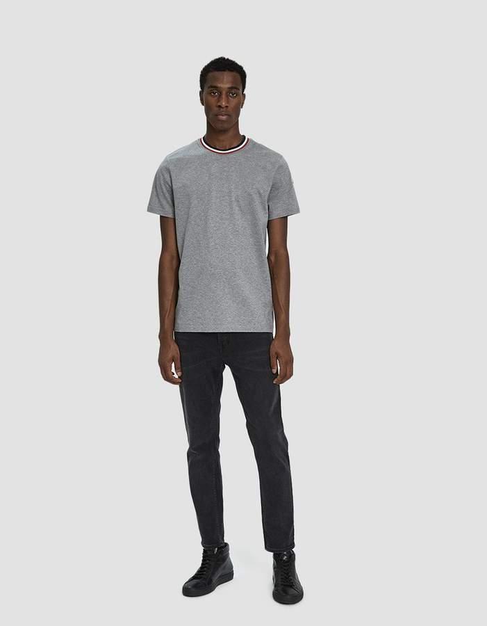 Moncler S/S Crewneck T-Shirt in Light Grey