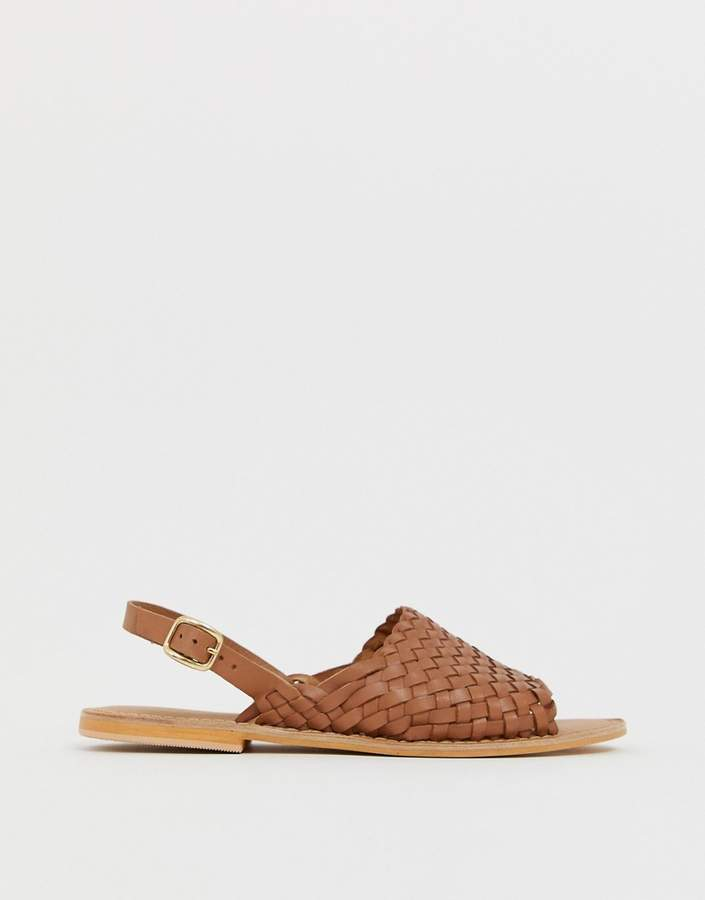 Design Sandals Flat Fraction Woven Leather I9bHeE2WDY