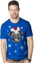 Crazy Dog T-shirts Crazy Dog Tshirtsens Santa Pug Ugly Christas Sweater Holiday T Shirt